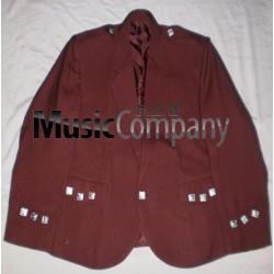 Maroon Argyle/Argyll Scottish Kilt Jacket with vest