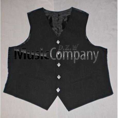 Black Argyle/Argyll Scottish Kilt Waistcoat