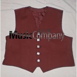 Maroon Argyle/Argyll Scottish Kilt Waistcoat