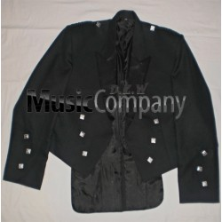 Black Prince Charlie Scottish Kilt Jacket with vest
