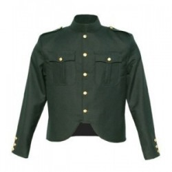 Green Melton Wool Police Tunic