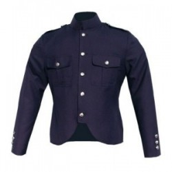 Blue Melton Wool Police Tunic