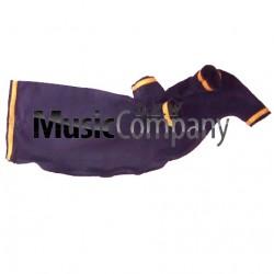 Navy Trim Navy Velvet Bagpipe Cover