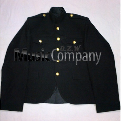 Black Canadian Military Style Cutaway Kilt Tunic