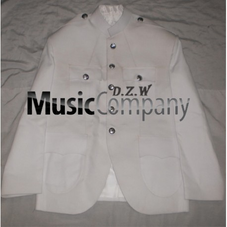 White Canadian Military Style Cutaway Kilt Tunic