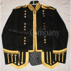Black Piper Drummer Doublet Tunic Jacket