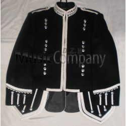 Black Scottish Military Pipe Band Doublet Tunic Jacket