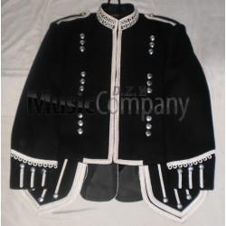 Black Scottish Military Pipe Band Doublet Tunic Jacket