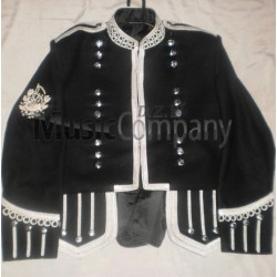 Black Piper Military Doublet Tunic Jacket