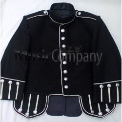 Black Military Style Doublet Tunic Jacket