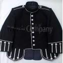 Black Military Style Doublet Tunic Jacket