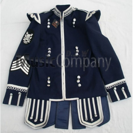 Navy Blue Drummer Military Doublet Tunic Jacket