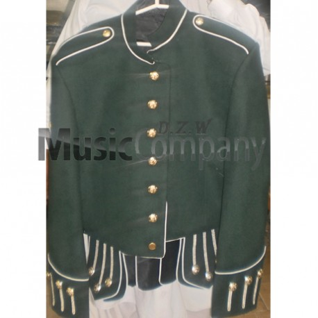 Green Military Style Doublet Tunic Jacket