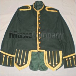 Dark Green Drummer Military Doublet Tunic Jacket