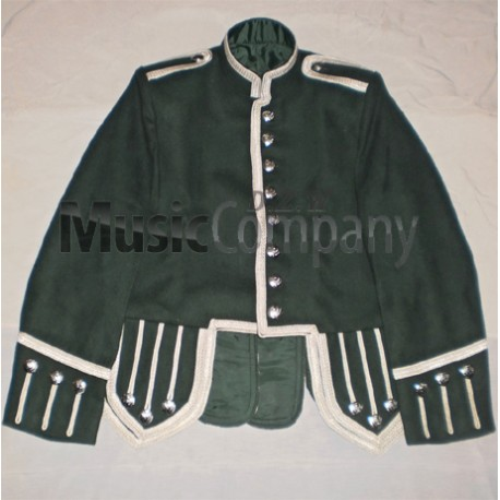 Dark Green Drummer Military Doublet Tunic Jacket