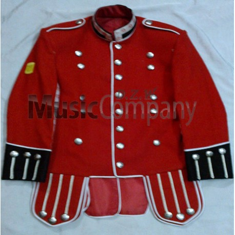 Red/Navy Blue Drummer Military Doublet Tunic Jacket