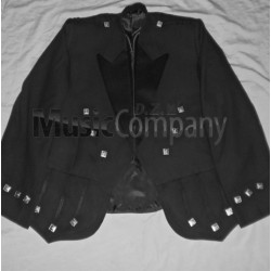 Black Regulation Doublet Kilt Jacket and Vest