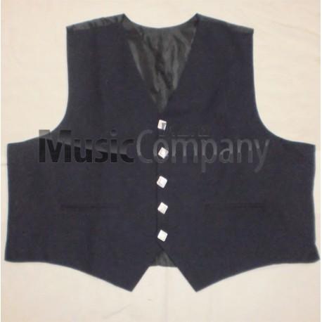 Black Regulation Doublet Kilt Waistcoat
