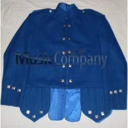 Royal Blue Sheriffmuir Doublet Kilt Jacket and Vest