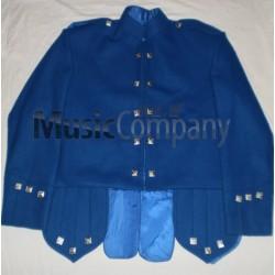 Royal Blue Sheriffmuir Doublet Kilt Jacket and Vest