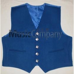 Royal Blue Sheriffmuir Doublet Kilt Waistcoat