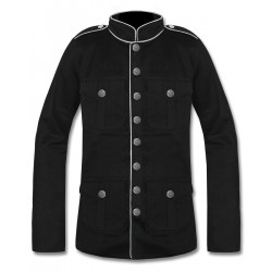 Black Military Jacket with White Lining
