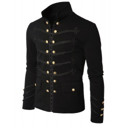 Military Napoleon Hook Jacket with Black Braid