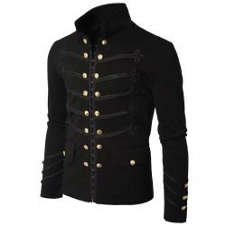Military Napoleon Hook Jacket with Black Braid