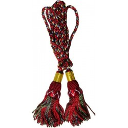 Multi Color Royal Stewart Silk Bagpipe Drone Cord
