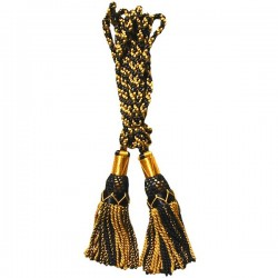 Multi Color Black & Gold Silk Bagpipe Drone Cord