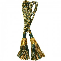 Multi Color Green & Gold Silk Bagpipe Drone Cord