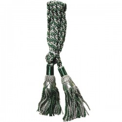 Multi Color Green & White Silk Bagpipe Drone Cord