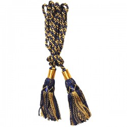 Multi Color Navy Blue & Gold Silk Bagpipe Drone Cord