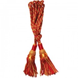 Multi Color Red & Gold Silk Bagpipe Drone Cord