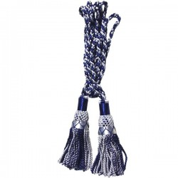 Multi Color Royal Blue & White Silk Bagpipe Drone Cord