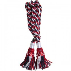 Multi Color Black & Red & White Silk Bagpipe Drone Cord