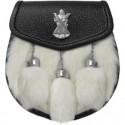 Semi Dress Leather Sporran with Chain Belt