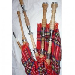 Full Engraved Highland Cucas wood Bagpipe