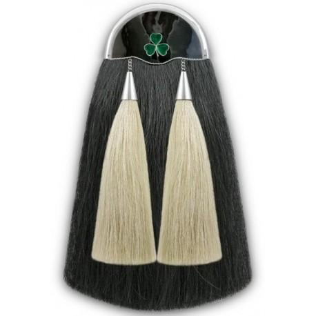 Thistle Military Horse Hair Sporran with Chain Belt