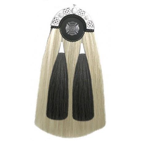 Harp Military Horse Hair Sporran with Chain Belt