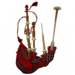 Half Engraved Highland Cucas wood Bagpipe