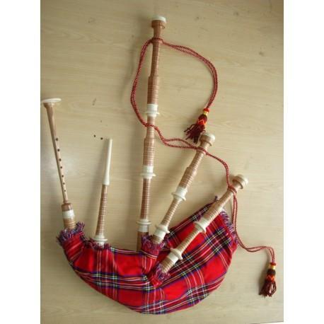 Full Ivory Plastic Highland Cucas wood Bagpipe