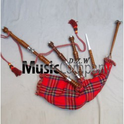 Half Engraved Highland Rose wood Bagpipe