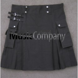Military Black Scottish Casual Utility Kilt