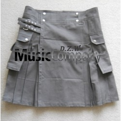 Deluxe Drak Gray Scottish Casual Utility Kilt
