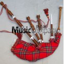 Half Silver Plain Highland Rosewood Bagpipe