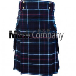 Red Color Scottish Casual Utility Kilt