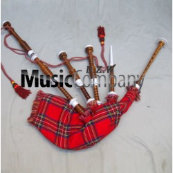 Ivory Plastic Highland Rose wood Bagpipe