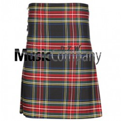 Traditional Black Stewart Man Kilt