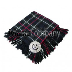 MacKenzie Scottish Fly Plaid with Knotted Fringe